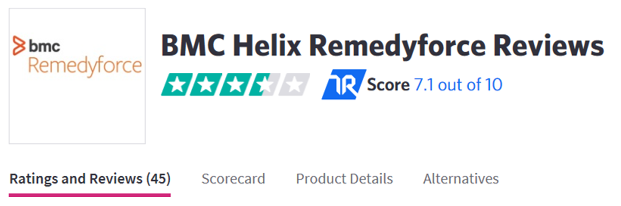 BMC Helix Remedyforce Reviews and Ratings – BMC Blogs